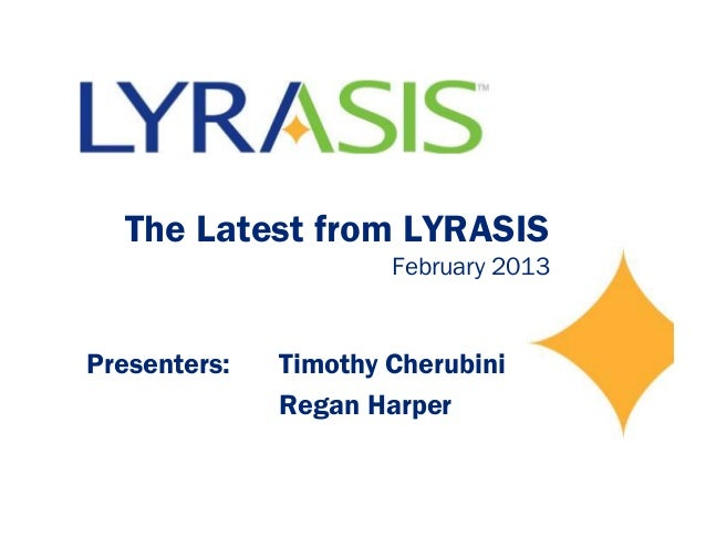 Latest from lyrasis february 2013 -final