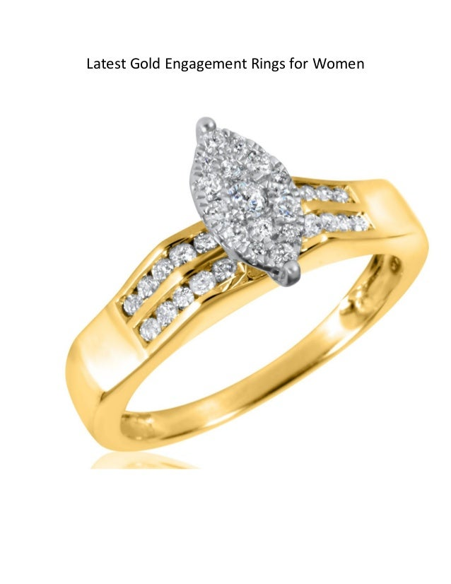 Latest Gold Engagement Rings for Women