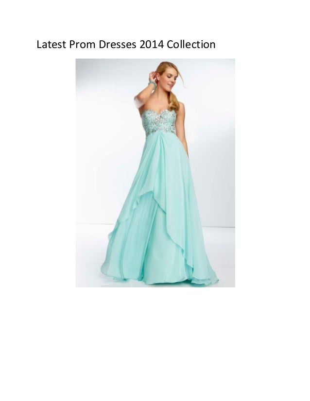 Latest Prom Dresses 2014 Collection
