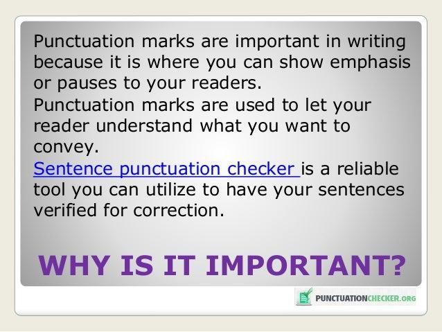 Punctuation correction