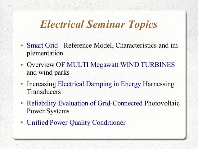 electrical presentation topics Safety and health topics | electrical - construction the references on this page provide information related to electrical in construction including osha's electrical construction regulations electrical osha slide presentation.