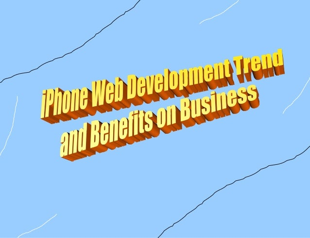 Latest trend of website development for iPhone for business