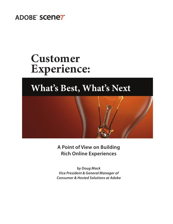 Customer                  Experience:                  What's Best, What's Next                                           ...