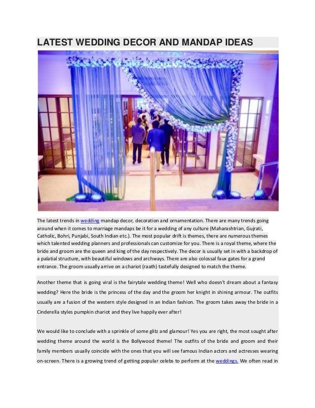 latest wedding decor and mandap ideas
