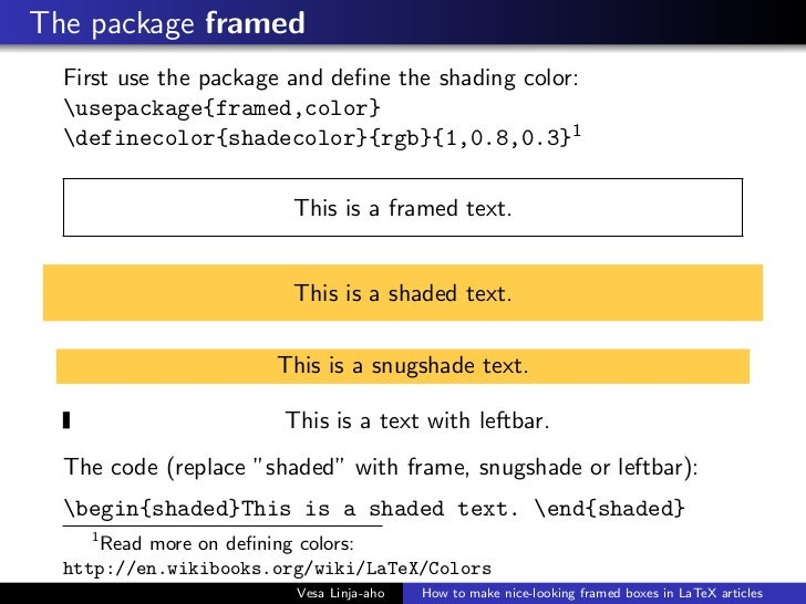 How to write color text in latex
