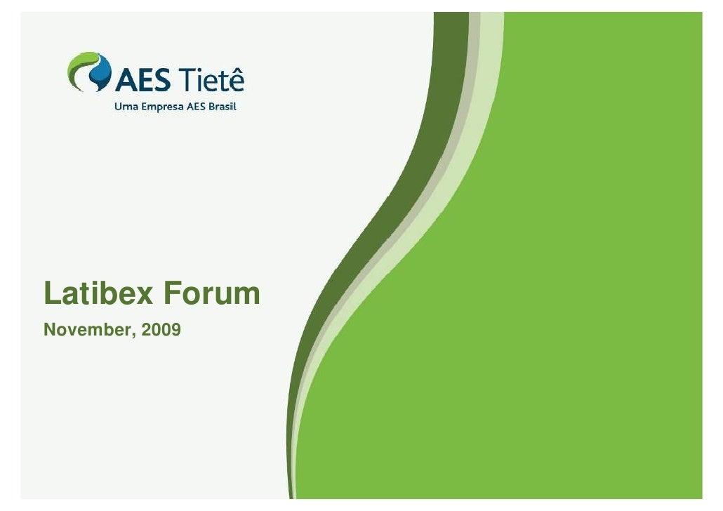 Latibex Forum November, 2009