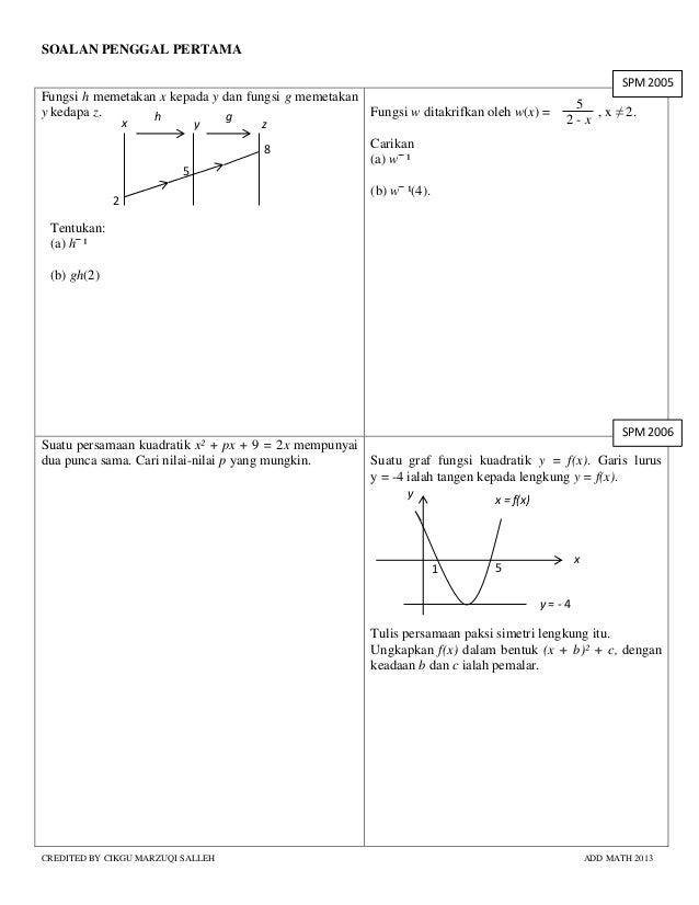 Soalan Latihan Matematik Tambahan Tingkatan 4 Viral Blog H