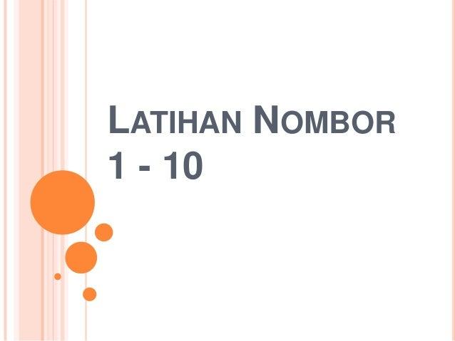 Latihan Matematik Nombor 1-10