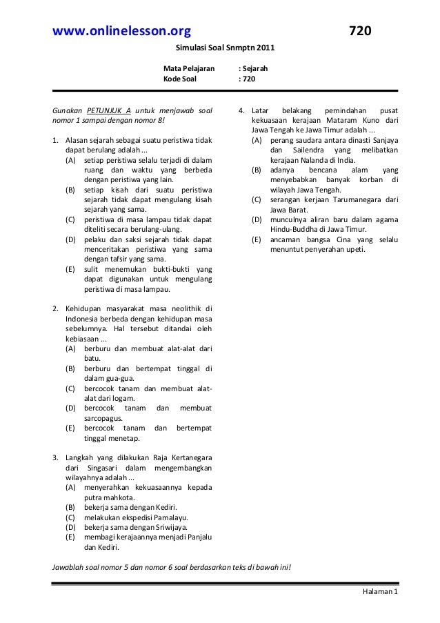 Download Soal Latihan Ujian Akhir Sekolah Uas Kelas 1 5