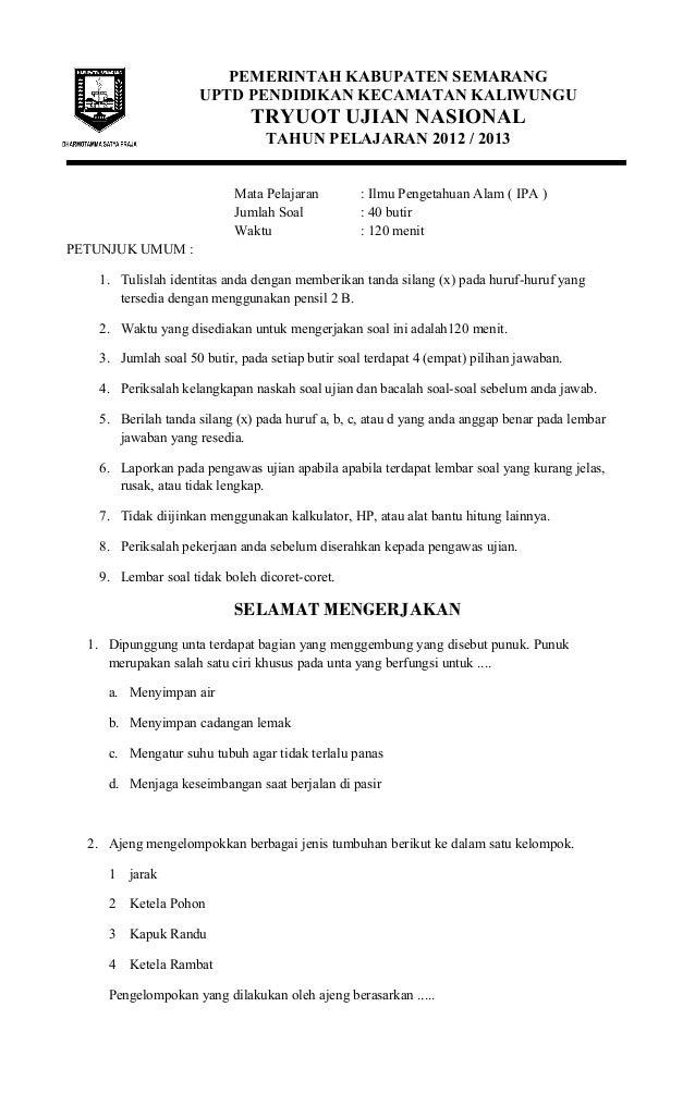 Kunci 6 Kelas Ujian Ipa Soal Dan Jawaban For Soal Results Ujian Search Hairstyle Kls 226 6 226