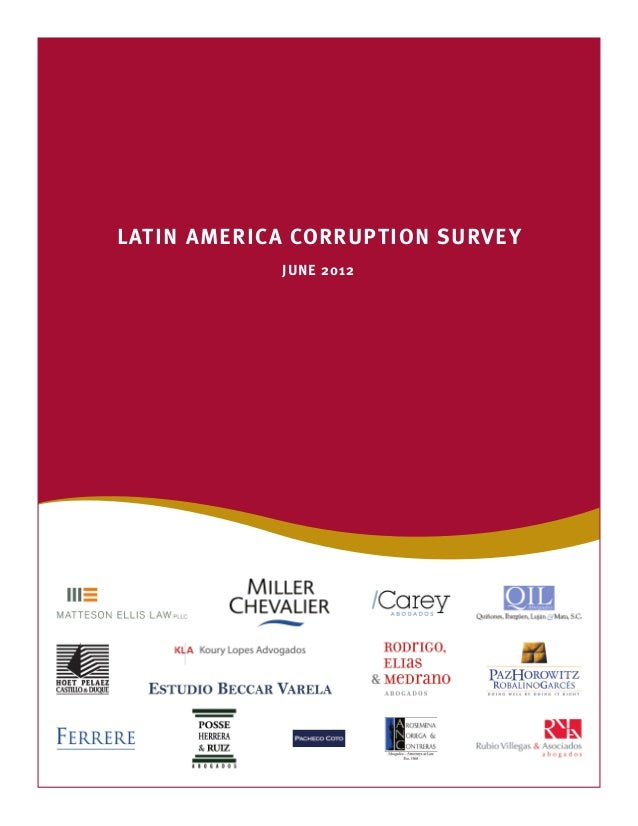LATIN AMERICA CORRUPTION SURVEYJUNE 2012