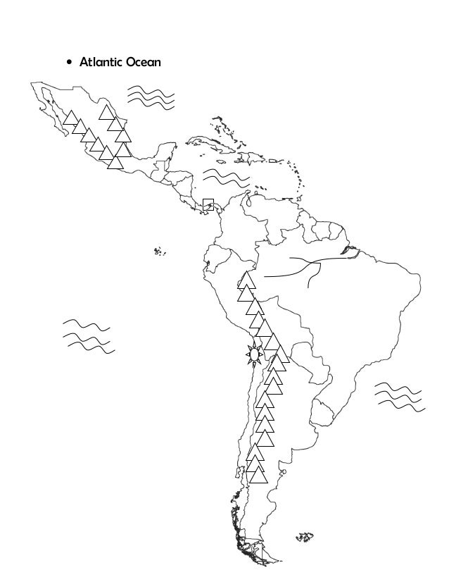 Latin america-map-test-study-guide