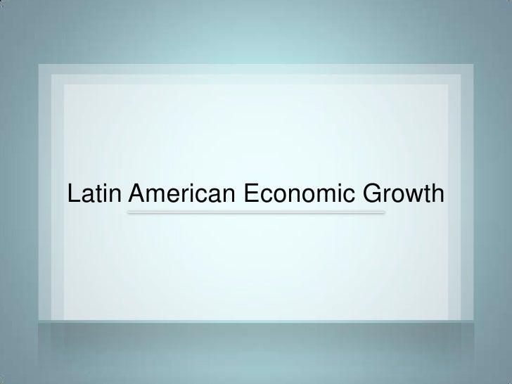 Latin American Economic Growth