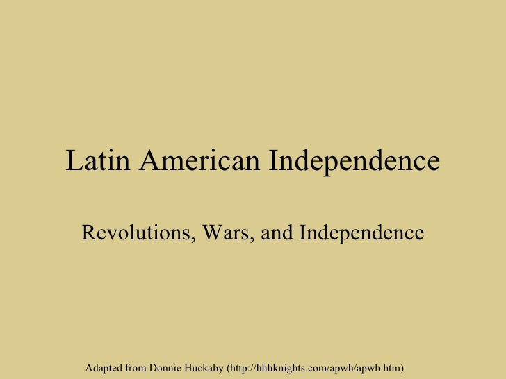 latin american and american revolution ccot Ap® world history 2015 scoring guidelines  the fifth paragraph — outside demand for latin american products (1 point) the essay includes analysis of.