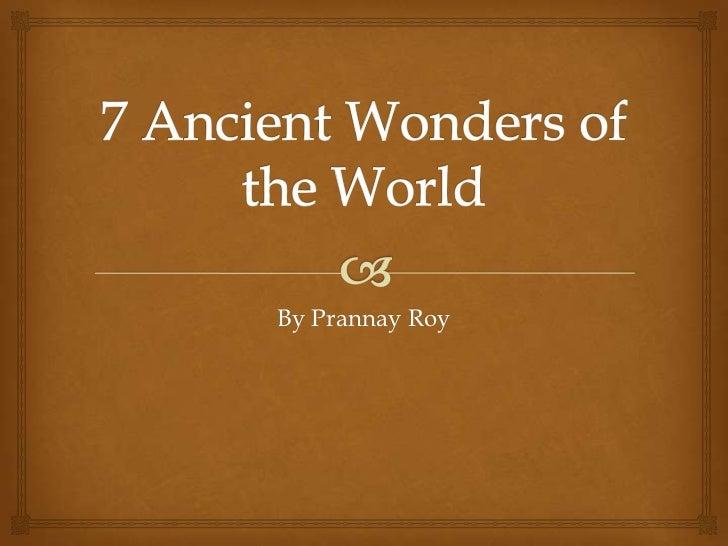 Latin 7 wonders of the world final version