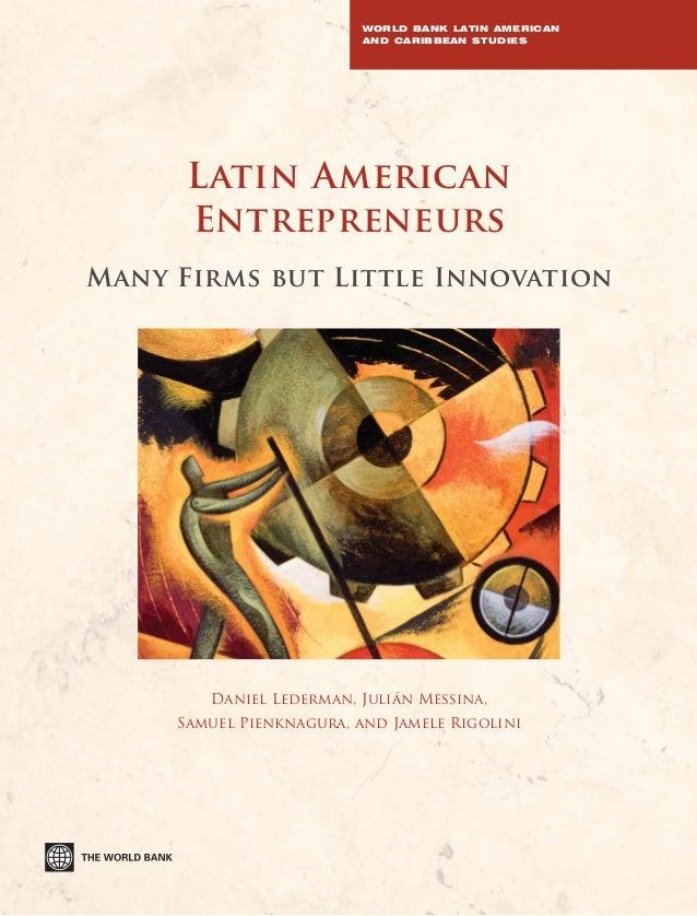 El emprendimiento en América Latina, muchas empresas, poca innovación.