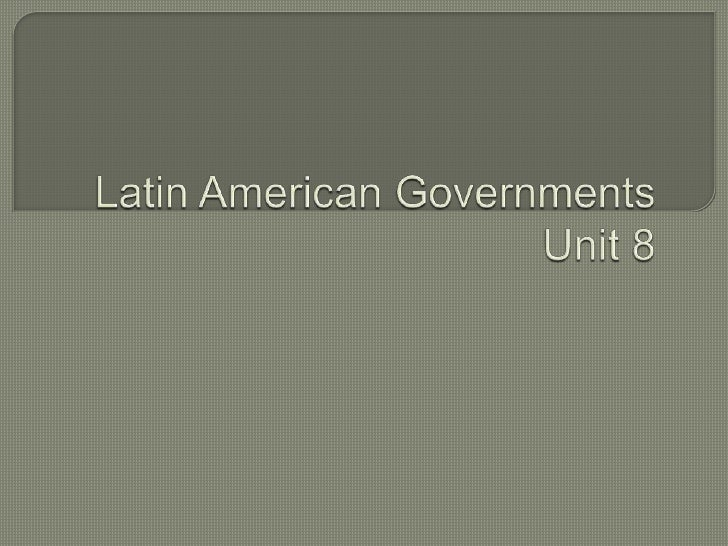 Latin American Governments 92