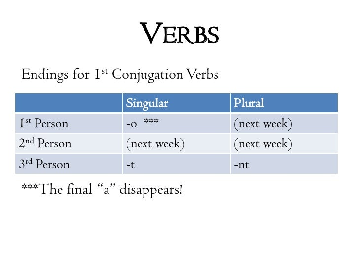 lesson 01 Lesson 1 parts of speech - verbs  verbs are the most important words in a sentence verbs are the first of the eight parts of speech that we will be studying.
