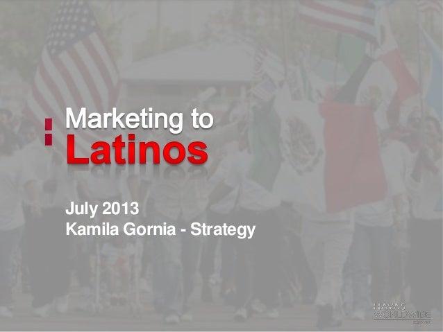 Latino Marketing - Financial
