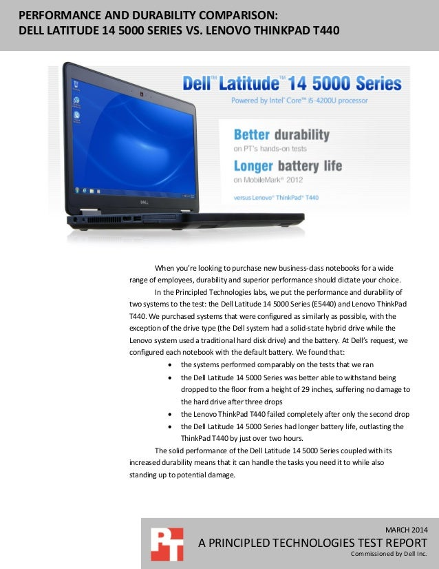 Performance and durability comparison: Dell Latitude 14 5000 Series vs. Lenovo ThinkPad T440