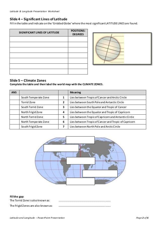 lines of latitude and longitude worksheet. Black Bedroom Furniture Sets. Home Design Ideas