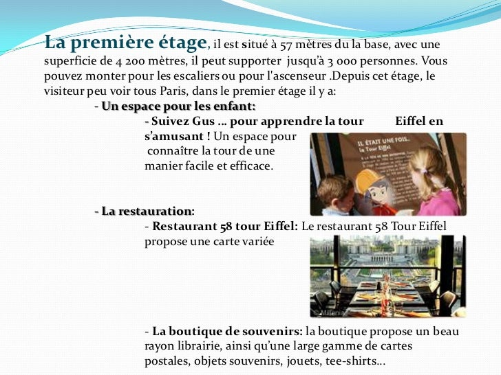 La tour eiffel pr sente - Restaurant dans la tour eiffel ...