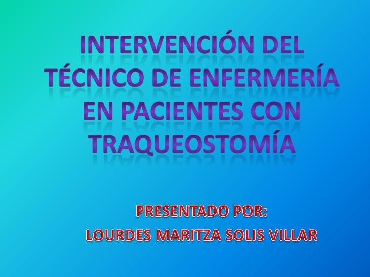La traqueostomia