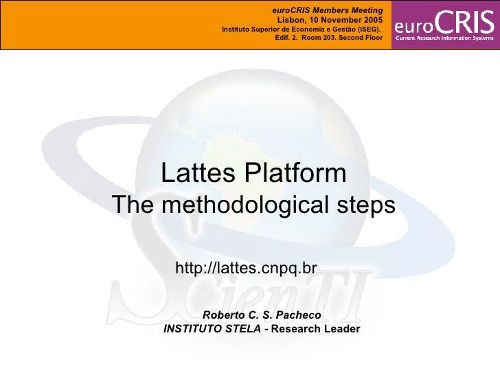 Lattes Platform: the Methodological Steps