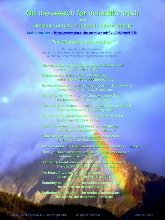 Lattice Energy LLC- Search for Scientific Truth and Greener Sources of Nuclear Energy-April 20 2013