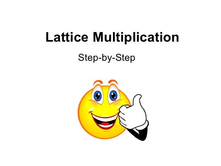 Lattice Multiplication Step-by-Step