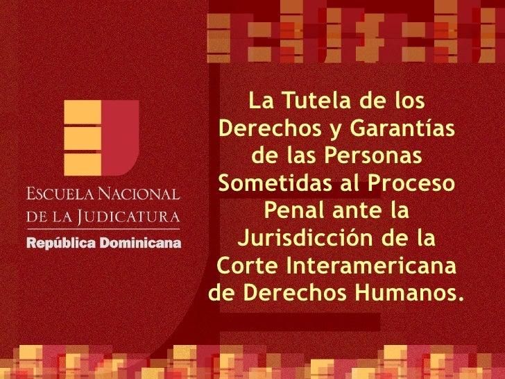 La Tutela de los Derechos y Garantías de las Personas Sometidas al Proceso Penal ante la Jurisdicción de la Corte Interame...