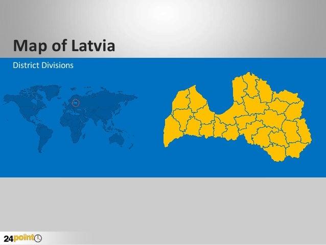 Editable PPT on Latvia Map