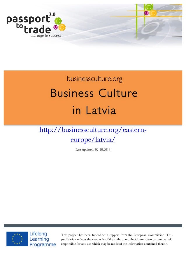Latvian business culture guide - Learn about Latvia