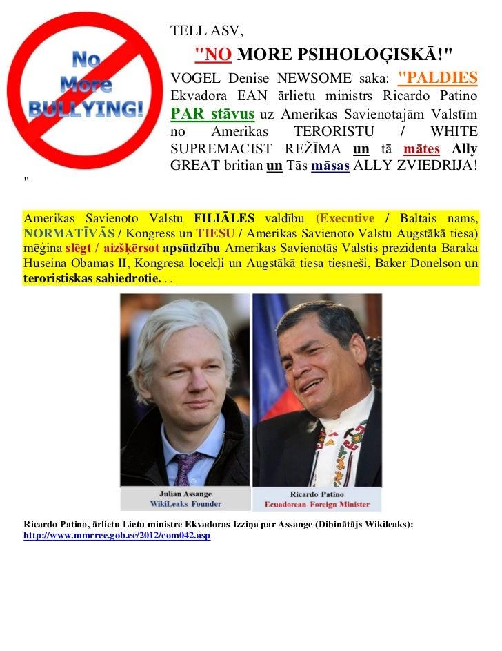 Latvian   thank you to  republic of ecuador (asylum of julian assange)