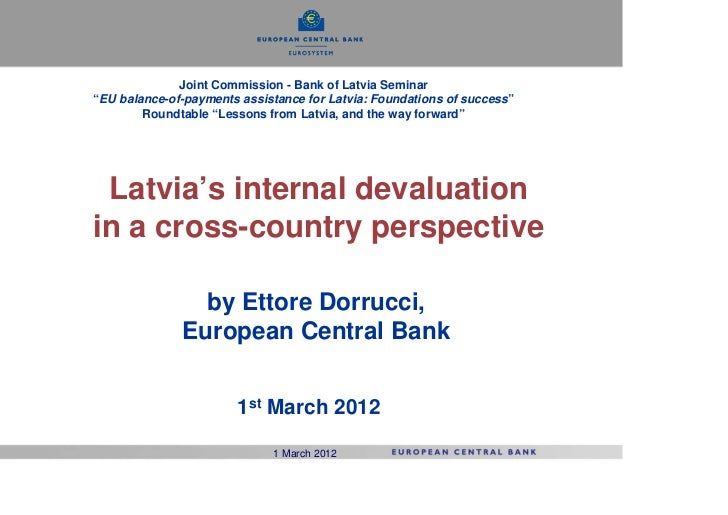 Latvia's internal devaluation in a cross-country perspective