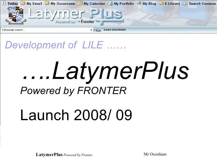 Latymerplus Presentation Students