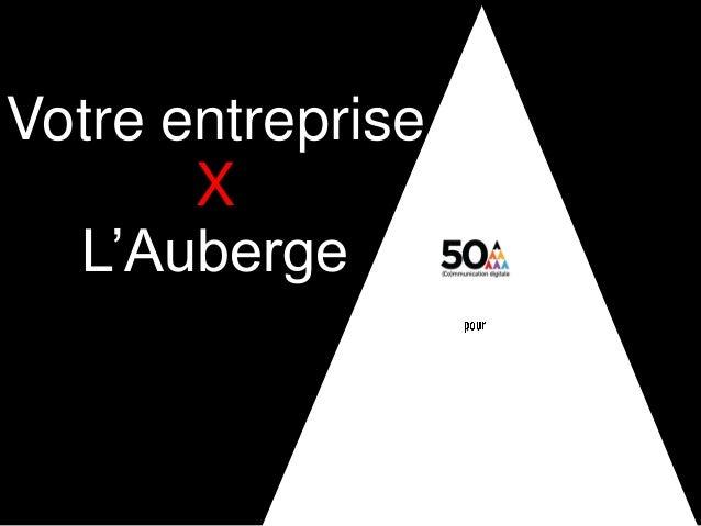 digital + visibilité + architecture sociale + coworking_lab + évènementielVotre entrepriseXL'Auberge