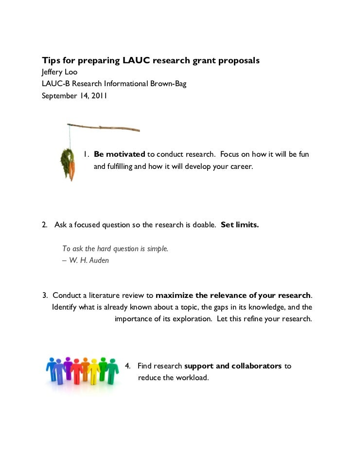 Tips for preparing LAUC research grant proposals