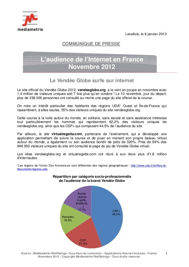 Levallois, le 8 janvier 2013                                  COMMUNIQUE DE PRESSE                  L'audience de l'Intern...