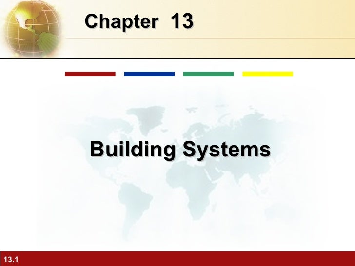 13 Chapter   Building Systems