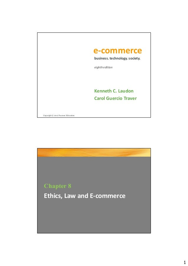 08 Ethics, Law and E-commerce