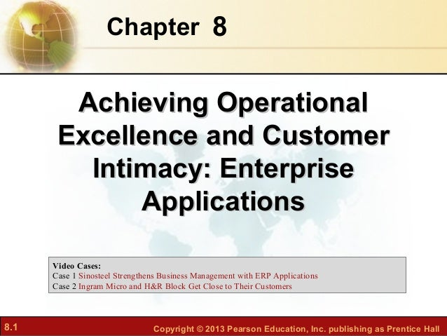 Chapter 8        Achieving Operational       Excellence and Customer         Intimacy: Enterprise             Applications...