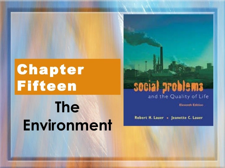 The Environment Chapter Fifteen