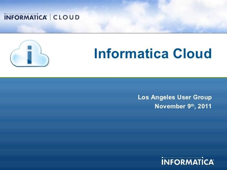 LA Salesforce.com User Group: Shopzilla and Informatica Cloud