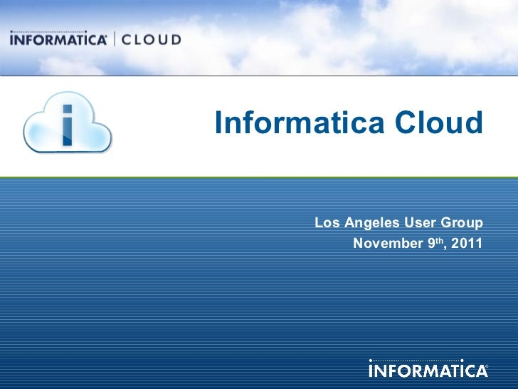 LA Salesforce.com User Group: Shopzilla and Informatica Cloud