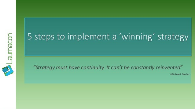 5 steps to implement winning strategy