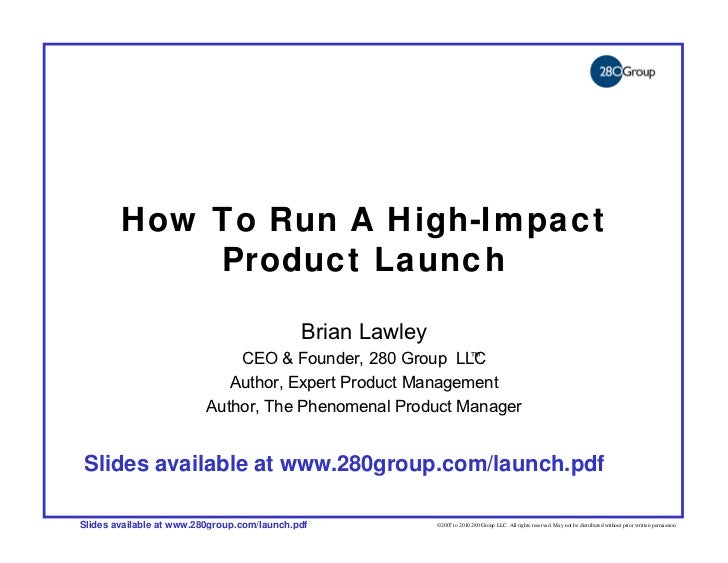 How to Run a High-Impact Product Launch