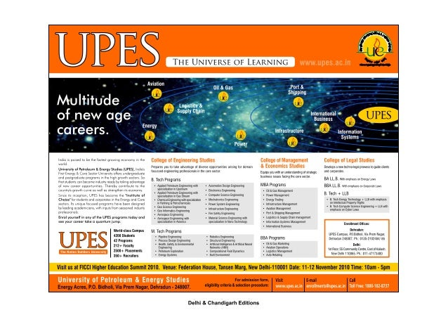 Enrollment campaign of UPES