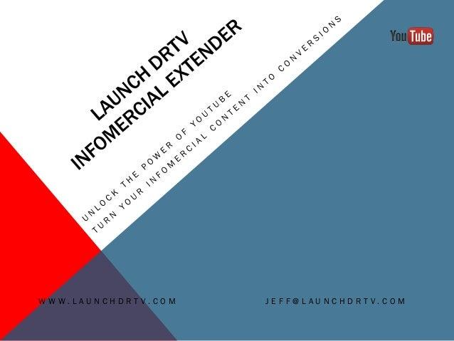 Launch DRTV Infomercial Extender