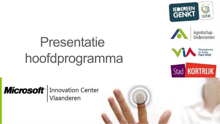 Lancerings event Microsoft Innovation Center Vlaanderen